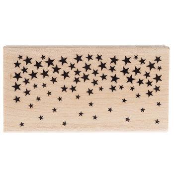 Star Confetti Border Rubber Stamp