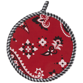 Red & Black Bandana Print Pot Holder