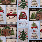 Christmas Campers Cotton Fabric