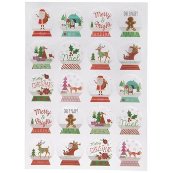 Festive Snow Globe Stickers