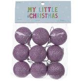 Mini Glitter Ball Ornaments