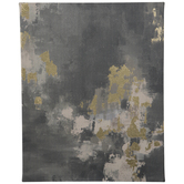 Gray & Gold Abstract Canvas Wall Decor