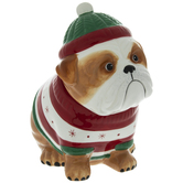 Bulldog In A Sweater Cookie Jar