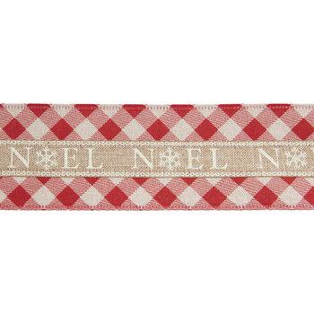 "Noel Plaid Wired Edge Ribbon - 2 1/2"""