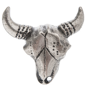 Pewter Bull Skull Metal Knob