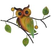 Owl & Branch Metal Wall Decor