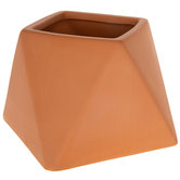 Terra Cotta Geometric Pot