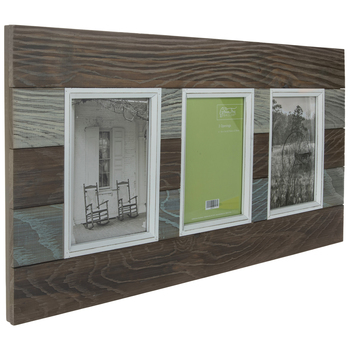 Rustic Plank Wood Collage Wall Frame