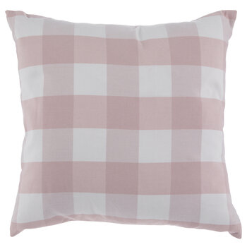 Pink & White Buffalo Check Pillow