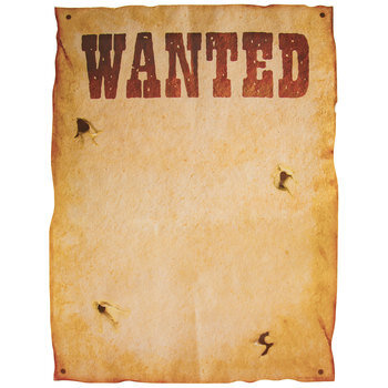 Wanted Western DIY Posters