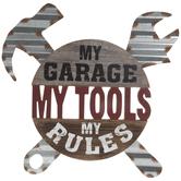 My Garage, Tools & Rules Wood Wall Decor