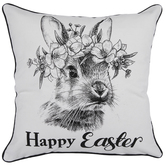 Happy Easter Bunny Pillow Cover