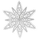 Silver Glitter Snowflake Ornament