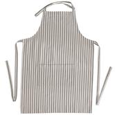 Gray & White Striped Apron
