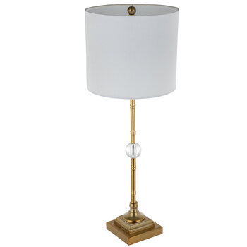 Gold Bamboo Metal Lamp