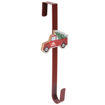 Red Truck With Tree Wreath Hanger