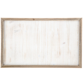 Whitewash Framed Wood Wall Decor