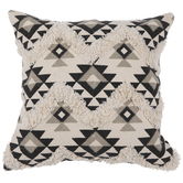 White & Gray Southwestern Pillow Cover
