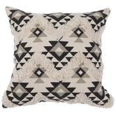 White & Gray Southwestern Pillow Cover