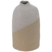 White & Beige Textured Vase - Medium