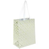 White & Gold Geometric Gift Bag