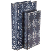 Navy Moroccan Book Box Set