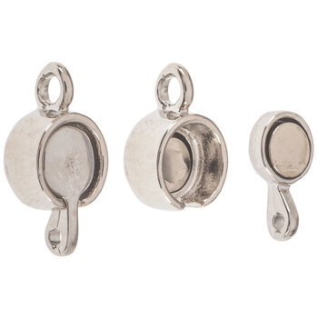 Round Flat Magnetic Clasps - 17mm x 9mm