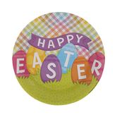 Happy Easter Paper Plates - Small