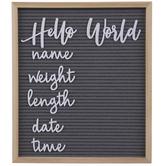 Hello World Letter Board