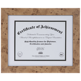 "Dimpled Wood Document Frame - 11"" x 8 1/2"""