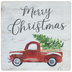 Merry Christmas With Truck Magnet