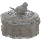 Silver Bird Jewelry Box