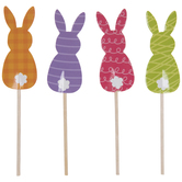 Bunny Silhouette Cupcake Toppers