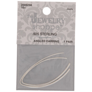 Sterling Silver Angled Earring Wires