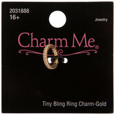 Tiny Ring Rhinestone Charm