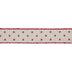 Cream & Red Polka Dot Wired Edge Mesh Ribbon - 1 1/2
