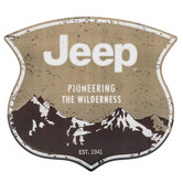 Jeep Pioneering The Wilderness Metal Sign