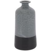 Blue & Black Two-Tone Vase