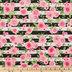 Pink Rose Striped Apparel Fabric