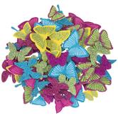 Glitter Butterfly Foam Stickers