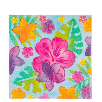 Hibiscus Flower & Palm Leaf Napkins