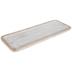 Whitewash & Gold Rectangle Wood Tray - Large