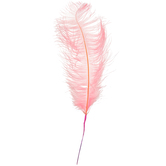 Pink Dyed Ostrich Feather Pick