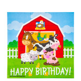 Barnyard Birthday Napkins - Large