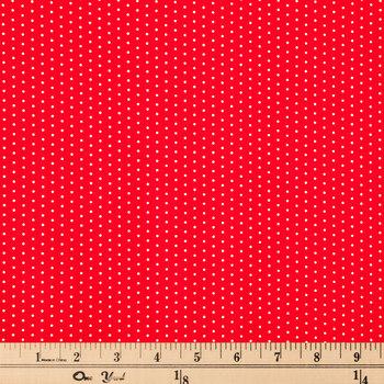 Red & White Polka Dot Cotton Calico Fabric