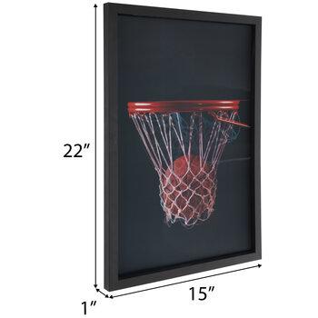 Basketball Lenticular Wood Wall Decor
