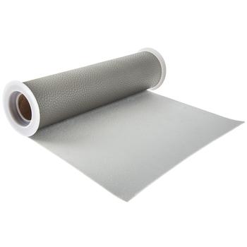 "Gray Faux Leather Ribbon - 8"""