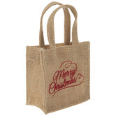 Merry Christmas Burlap Bag Gift Card Holders