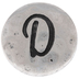 Hammered Letter Mini Snap Charm - D