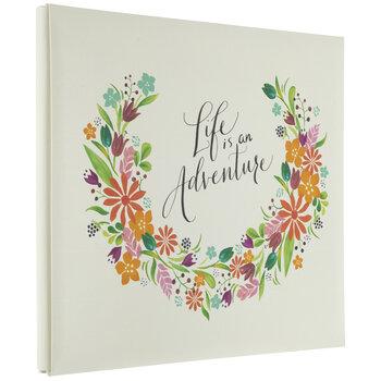 "Floral Life Post Bound Scrapbook Album - 12"" x 12"""